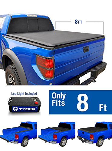Tyger Auto TG-BC1F9028 TOPRO Roll Up Truck Bed Tonneau Cover 1999-2016 Ford F-250 F-350 F-450 Super Duty | Styleside 8' (350 Truck)