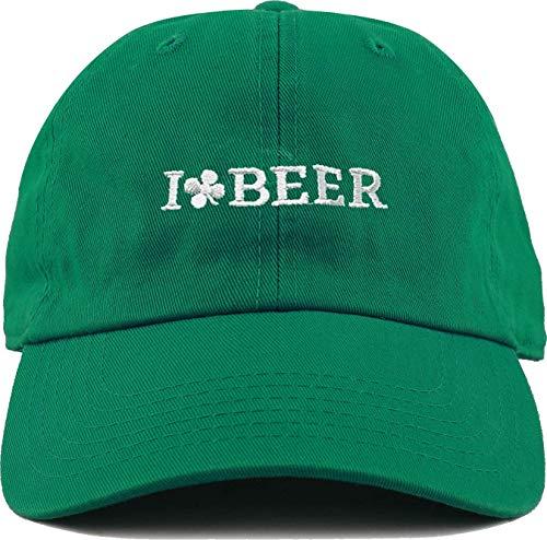 H-213-33 Irish Dad Hat - I Love Beer (Green) ()