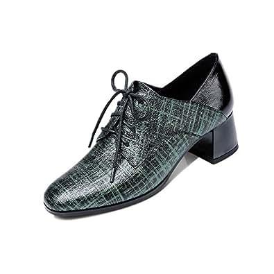 Nine Seven Women's Leather RoundToe Oxford Shoe 5 B(M) US Green