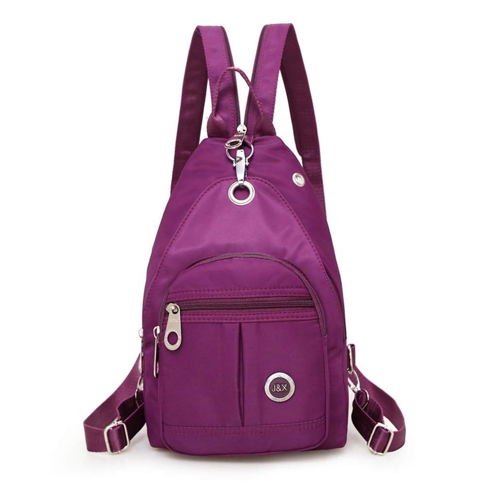 7f518b8db4ba Mini Shoulder Backpack Waterproof Crossbody Sling Bag Small Daypack Casual  Backpack Lightweight Purple Traveling Bag Anti Theft Backpack Book Bag for  Women ...