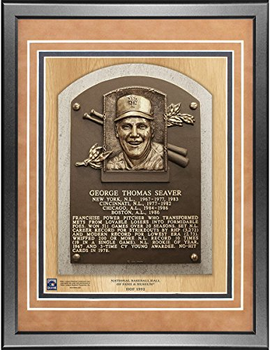 Tom Seaver 11x14 Framed Baseball Hall of Fame Plaque