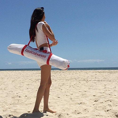 New Cool Cabanas UPF 50 cotton poly canvas, providing 50+ UV protection,8 pockets-Blue White Perfect Stripes