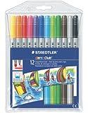 Staedtler 施德楼 12色双头彩绘笔  320 NWP12