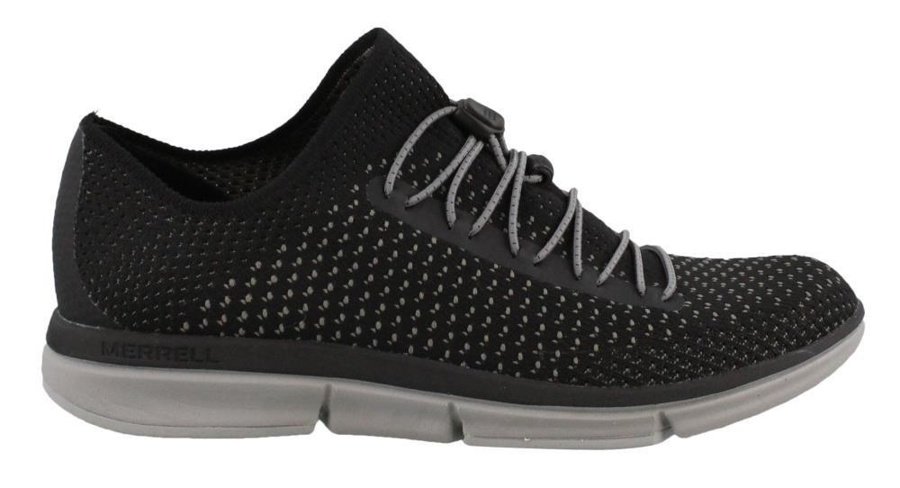 Merrell Women's Zoe Sojourn Lace Knit Q2 Sneaker B071WN8286 9 B(M) US|Black/Grey