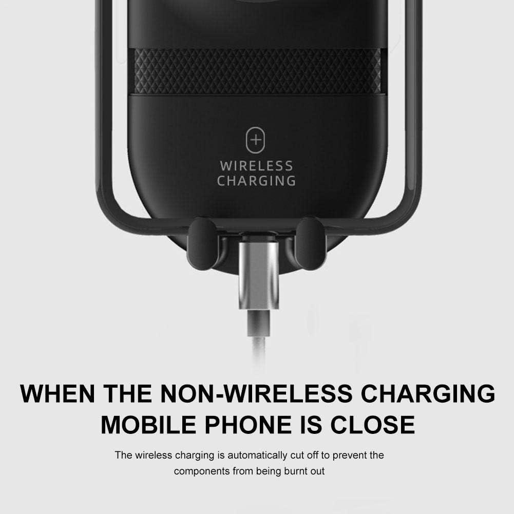 Rotation /À 360 /° IrahdBowen Chargeur sans Fil Voiture pour T/él/éphones /À /Écran De 4 /À 6 Pouces 4.33 4.72in E Infrarouge /À Serrage Automatique Porte-t/él/éphone Recharge Rapide 10W//7.5W//5W