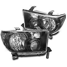 ZMAUTOPARTS Toyota Tundra / Sequoia Crystal Headlights Lamps Black
