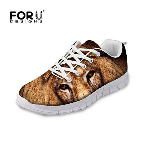 Per Te Disegni Moda Tigre Lupo Animale Stile Uomo E Donna Maglia Leggera Scarpe Da Corsa Leone