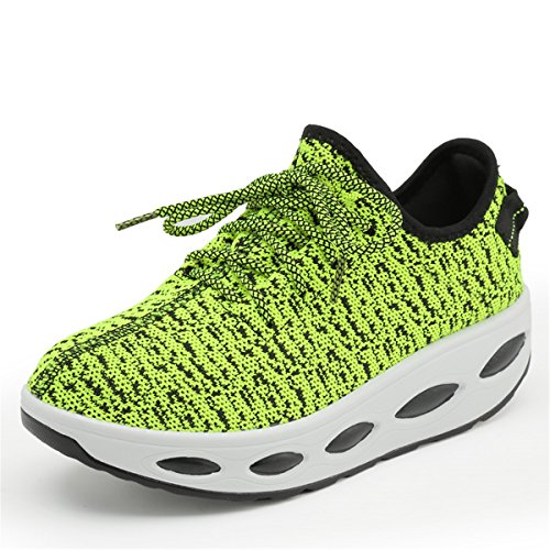 Sport Green Running Mesh Wedges Platform Lightweight Womens Breathable Beeagle Rocking Shoes Sneakers Walking Knitted qpvwwSC