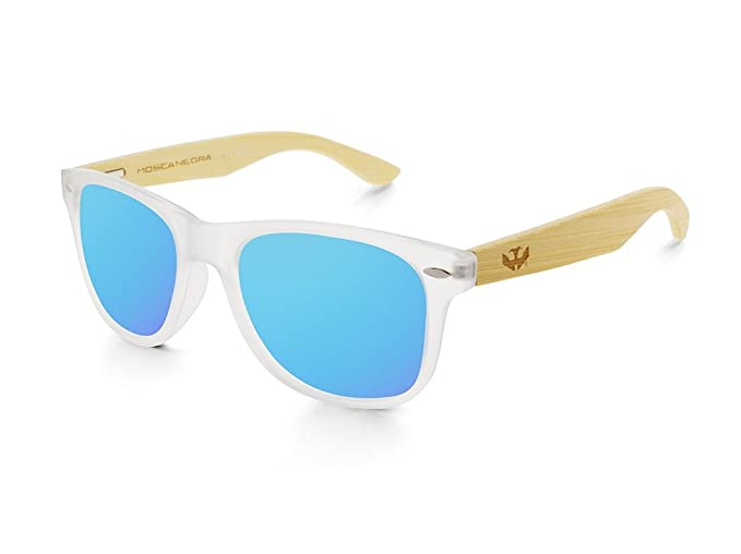 Gafas de madera MOSCA NEGRA modelo MIX FOG and ICE BLUE ...