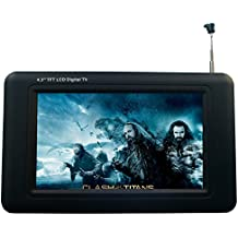 """Chaowei DTV530 Portable 4.3"""" Digital TV with ASTC Tuner,TFT LCD and Magnetic Base Antenna - Black"""