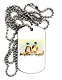 TooLoud Magellanic Penguin Text Adult Dog Tag Chain Necklace