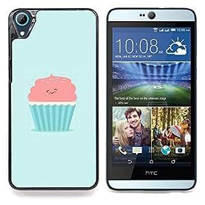 """Qstar Arte & diseño plástico duro Fundas Cover Cubre Hard Case Cover para HTC Desire 826 (Rosado y azul lindo de la magdalena"""")"""