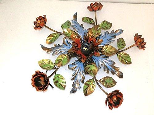 Plafoniera Fiori Colorati : Coppia applique con fiori eur picclick it