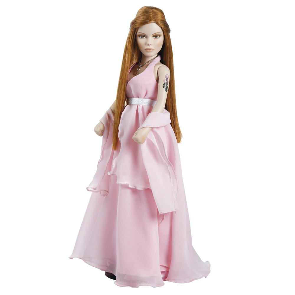 Paradise Galleries Abbey Doll for the Cure, Porcelain Doll for Breast Cancer Awareness