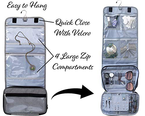 Travel Jewelry Organizer Carrying Case - PLUS Shoe Bags. Hanging Holder and Storage For Accessories by Endlessly Wanderlust (Image #2)