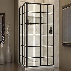 DreamLine French Corner 34 1/2 in. D x 34 1/2 in. W, Framed Sliding Shower Enclosure, 5/32
