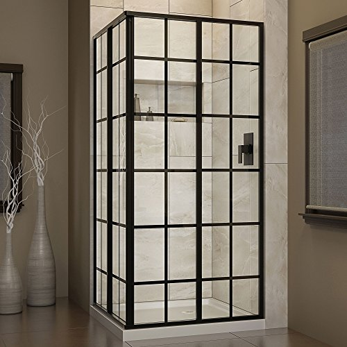 Buy Discount DreamLine French Corner 34 1/2 in. D x 34 1/2 in. W, Framed Sliding Shower Enclosure, 5...