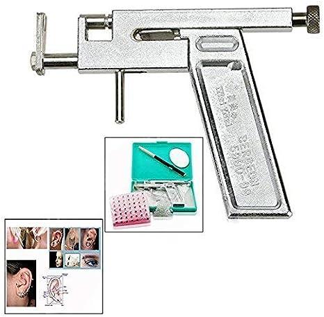 Edelstahl Ohrstecker Ohrloch Ohr Piercing Body Pierce Ohrlochpistole+294tlg