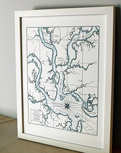 (Charleston South Carolina, Letterpress Map Unframed)