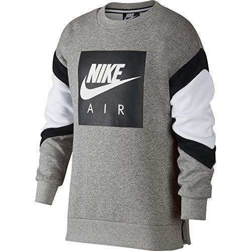 dk Felpa B nero Nike Nk Grigio 063 Heather Air bianco Boyfriend Crew Grigio ZZ0Rqr