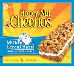 Cheerios Honey Nut , Milk \'n Cereal Bars, 6-Count Boxes (Pack of 10)