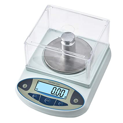 8d2c29b3f352 KOOKYOU Precision Scale 0.01g Lab Analytical Electronic Balance Scale  Laboratory Jewelry Gold Scale Kitchen Weighing Gram Scale Balance (600 Gram)