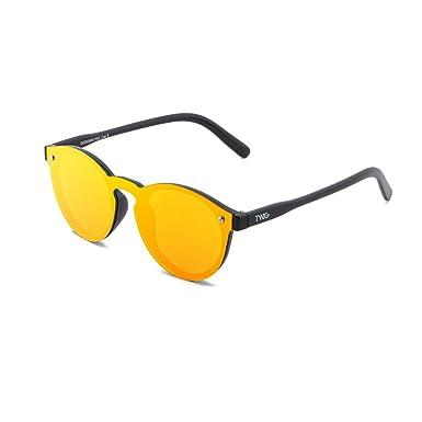 Sonnenbrille TWIG Da Vinci Herren/Damen Verspiegelt Jahrgang retrò Schwarz/Orange HlM0AIr6r