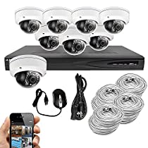 Best Vision Systems 8CH 4TB IP NVR Security Surveillance System with (8) 4MP PoE Outdoor Vandalproof Dome Cameras – Hikvision OEM