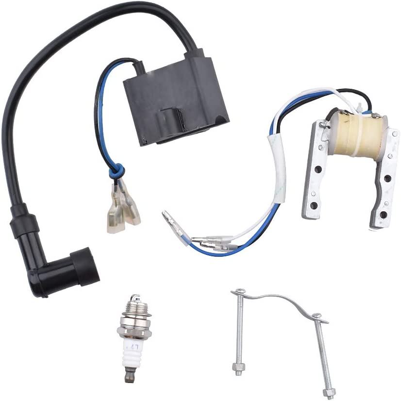 CDI Ignition Coil Magneto Coil for 49cc 50cc 60cc 80cc 2-Stroke Engines Motor Motorized Bicycle Bike