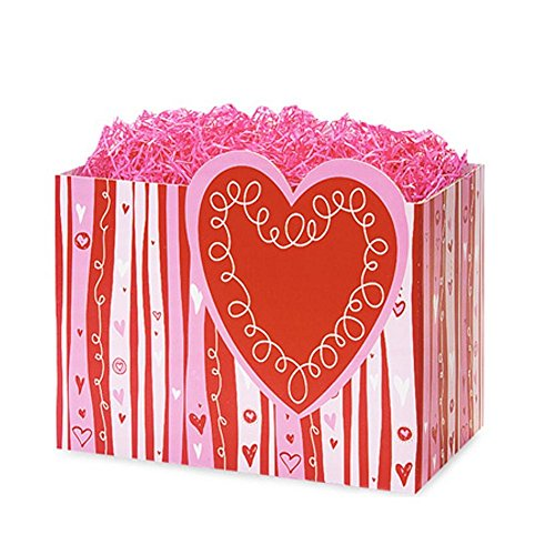 Small Swirly Hearts Basket Boxes - 6.75 x 4 x 5in. - 90 Pack by NW