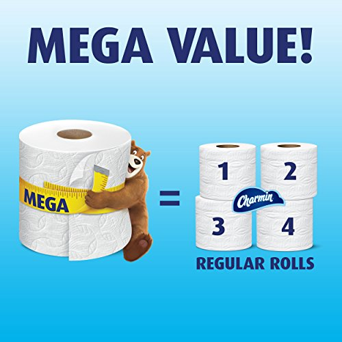 51RZhWldogL - Charmin Ultra Strong Toilet Paper, Mega Roll, 24 Count (Packaging May Vary)