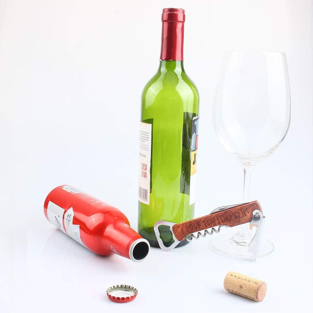 I Love You Forever Multi-Tool Bottle Opener Corkscrew Wine Opener Wine Lover Boyfriend Husband Birthday Wedding Party Gifts HomeLove Inc