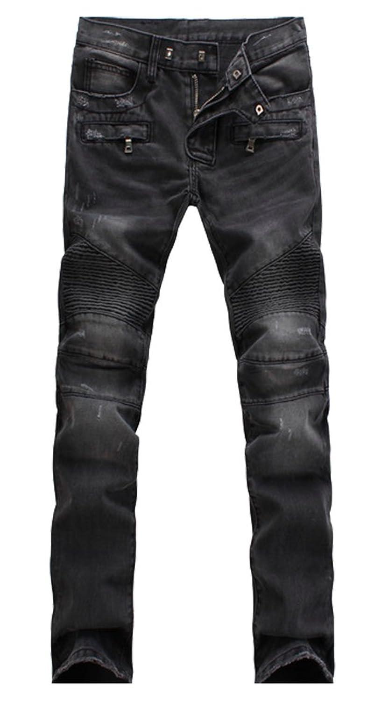 Myncoo Men&39s Biker Skinny Ripped Denim Jeans on sale - gilshaham.com