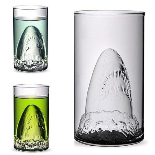 Creative Shark Glass Cup Beer Mug Champagne Red Wine Cup. (Sediment Tubes With Lids compare prices)