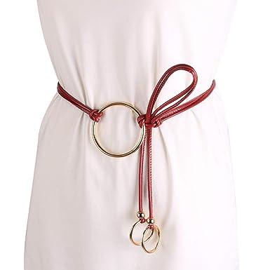 Damen Silber Kette Taille Gürtel elastischer Kleid Gürtel Skinny Elegant