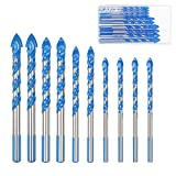 Masonry Drill Bit Set KAKOO 10 PCS Tungsten Carbide