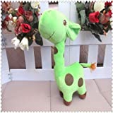 DDStore 1 Green Color Cartoon Doll Plush Giraffe Sika Deer Stuffed Toys