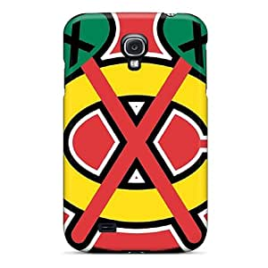 Tpu Case Cover For Galaxy S4 Strong Protect Case - Chicago Blackhawks Design