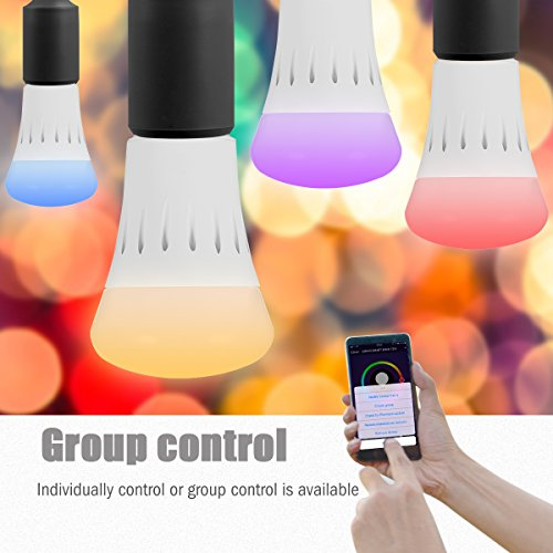 LOHAS Smart LED Bulb, Wi-Fi Light, Multicolored LED Bulbs(UL Listed), A19 LED Dimmable 60W Equivalent(9W), Smartphone Controlled Daylight & Night Light, Home Lighting Compatible with Alexa(1 Pack) by LOHAS (Image #3)