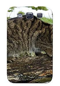 [bkigej-1989-dmkyyhg] - New Animal Cat Protective Galaxy S3 Classic Hardshell Case