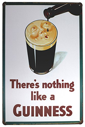 """There is nothing like a GUINNESS Metal Tin Sign, Vintage Style Wall Ornament Coffee & Bar Decor,Size 8""""*12"""""""