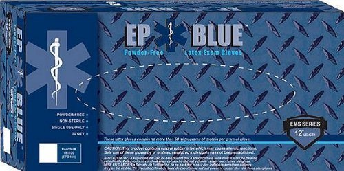 INNOVATIVE EP BLUE POWDER FREE LATEX MEDICAL GLOVES Large Gloves, Series (EPB), 50/bx, 10 bx/cs by Innovative (Image #1)