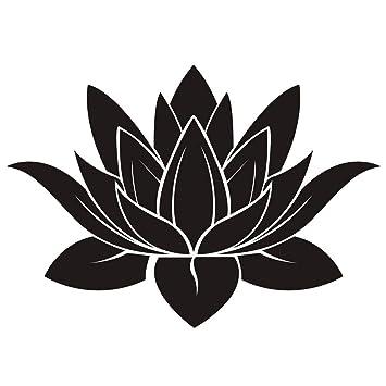 Amazon Dnven 32w X 22h Black Lotus Flower Hindu Buddha