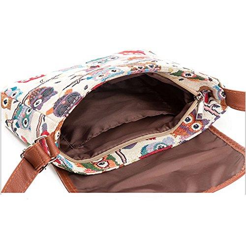 Casual Women Tote Hobo Shoulder Travel Canvas Work Shopping Big Bags Owl Bag Purse Bags Bags For Handbag Bags Yf4wwqHt
