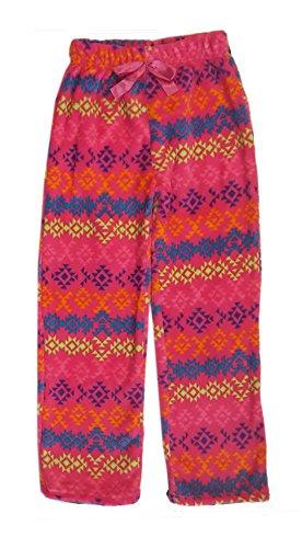 Popular Little Girl's Fuzzy Fleece Pajama Pants - Pink Tribal - 4