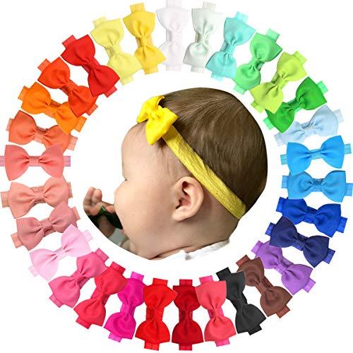 JOYOYO 30 Colors Baby Girls Headbands Grosgrain Ribbon Hair Bows Soft Hair Band Accessories for Newborn Infant Toddlers ... (Baby Bows) from JOYOYO