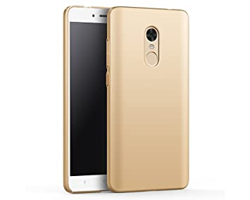 EIISSION Funda Compatible con Xiaomi Redmi Note 4X Funda,Carcasa ToughShell Funda táctil Funda Mate Funda Duro y Flexible Carcasa (Oro)