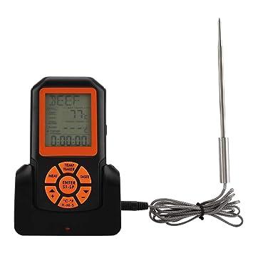 Eboxer Termómetro de Cocina a Prueba de Agua con Pantalla LCD Digital, Termómetro de Barbacoa