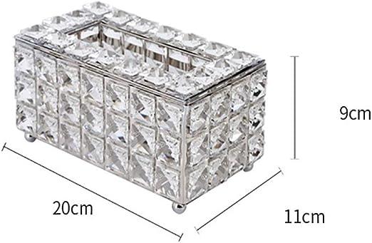 caja de pañuelos Caja De Cristal Tejido, Caja De Almacenamiento De ...