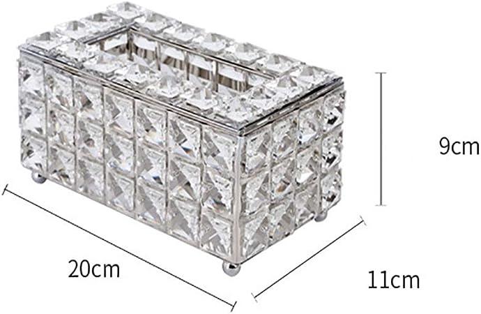 caja de pañuelos Caja De Cristal Tejido, Caja De Almacenamiento De La Servilleta De Escritorio, Rectangular, Accesorios For El Hogar (Color : Silver): Amazon.es: Hogar